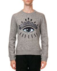 Kenzo Logo Sweatshirt With Eye Embroidery - Lyst