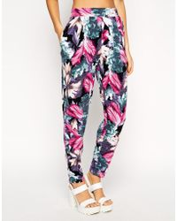 Asos Exclusive Peg in Oversize Floral Print - Lyst