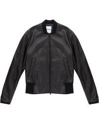 KENZO Leather Jacket W Emb On Back - Black