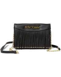 Betsey Johnson - On The Fringe Faux Leather Wallet - Lyst