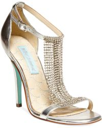 Betsey Johnson Blue By Mesh Evening Sandals - Lyst