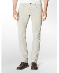 Calvin Klein Slim Neutral Wash Jeans - Lyst