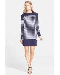 Michael Kors Stripe T-Shirt Dress - Lyst