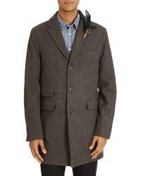 Atelier Scotch Grey Wool Coat - Lyst