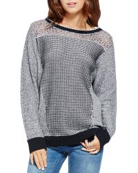 Two By Vince Camuto - Mixed Stitch Jumper - Lyst