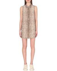 Equipment Lucida Leopard-Print Silk Shirt Dress - Lyst