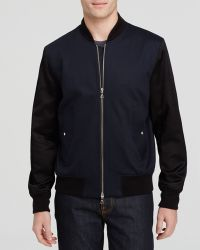 Paul Smith Contrast Bomber blue - Lyst