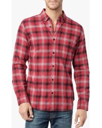 7 For All Mankind Brushed Flannel Shirt - Lyst