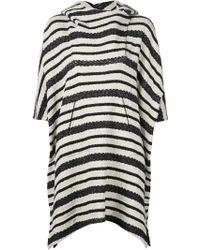 Zero + Maria Cornejo - Striped Hooded Poncho - Lyst