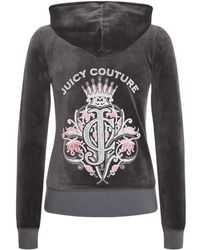 Juicy Couture Royal Crest Velour Hoodie - Lyst