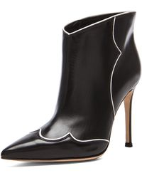 Gianvito Rossi Annie Ankle Leather Booties - Lyst