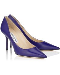 Jimmy Choo Purple Agnes - Lyst