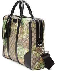 Gucci Gg Blooms Printed Canvas Briefcase - Metallic