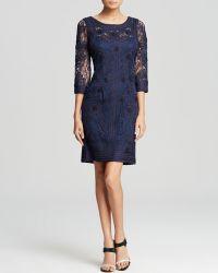 Sue Wong Dress - Three Quarter Sleeve Soutache - Lyst