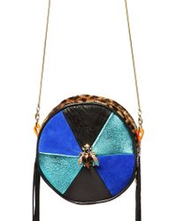 Imemoi - Greta Round Leather Bag with Jewel - Lyst