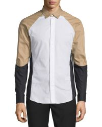 Opening Ceremony - Ergo Colorblock Woven Dress Shirt - Lyst