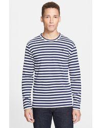 Comme des Garçons Stripe Long Sleeve Crewneck T-Shirt - Lyst