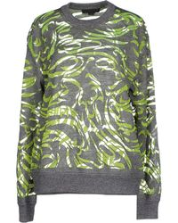 Alexander Wang Paisley-Flocked Pullover Sweater - Lyst