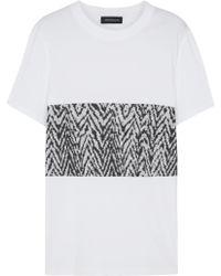 Kris Van Assche - White Printed Cotton T-Shirt - Lyst