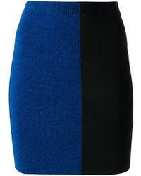 T By Alexander Wang Colour Block Skirt - Lyst