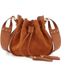Isabella Fiore | Urban Quilted Suede Crossbody Bag | Lyst