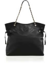 Tory Burch Marion Slouchy Tote black - Lyst
