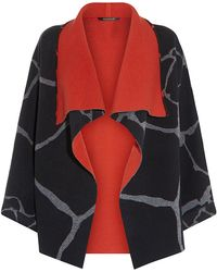Roberto Cavalli Giraffe Print Wool Cardigan - Lyst