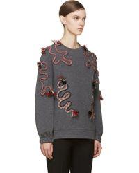 Stella McCartney Grey Undulating Cord Sweater - Lyst