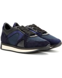 Burberry - The Field Leather Sneakers - Lyst