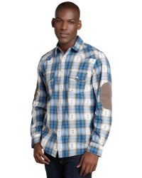3rd & Army - Blue Plaid 'sho Nuff' Button Down - Lyst