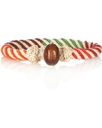 Aurelie Bidermann Maya Bead-embellished Bracelet - Lyst