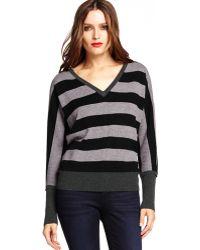 Michael Stars Long Sleeve V-Neck Sweater - Lyst