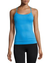 Nux Infinity T-back Camisole Tank - Blue