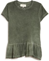The Great The Ruffle Tee green - Lyst