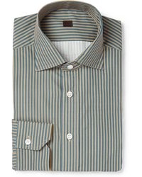 Mp Di Massimo Piombo Striped Cotton Shirt - Lyst