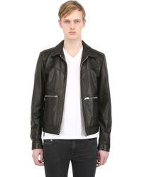 The Kooples Leather Jacket - Lyst