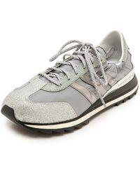 Y-3 Rhita Jogging Sneakers  Silver Metalgreychalk White - Lyst