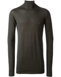 Rick Owens Funnel Neck Sweater - Lyst