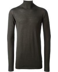 Rick Owens Funnel Neck Sweater - Lyst