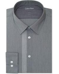 Calvin Klein X Extra-slim Meteor Checked Dress Shirt - Lyst