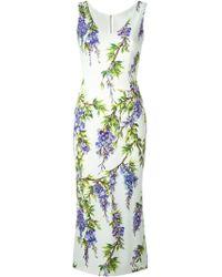 Dolce & Gabbana Wisteria Print Dress - Lyst
