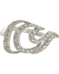 Deborah Pagani Grey Diamond  White Gold Small Deca Nueva Ring - Lyst