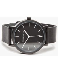 The Horse - Matte Black Band Watch - Lyst