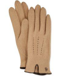 Lauren by Ralph Lauren Contrast Points Touch Gloves - Lyst