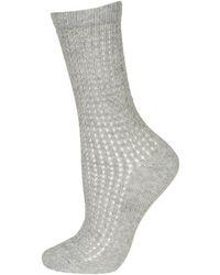 Topshop Airtex Ankle Socks - Lyst
