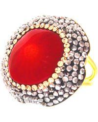 Soru Jewellery - Coral Ring - Lyst