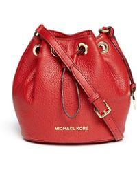 Michael Kors - 'jules' Leather Crossbody Bucket Bag - Lyst