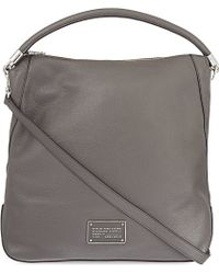 Marc By Marc Jacobs Too Hot To Handle Leather Hobo Bag - For Women - Grey
