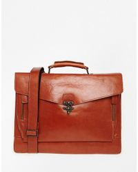 Royal Republiq - Leather Conductor Satchel In Cognac - Lyst