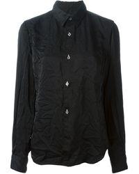 Comme Des Garçons Wrinkled Effect Shirt - Lyst